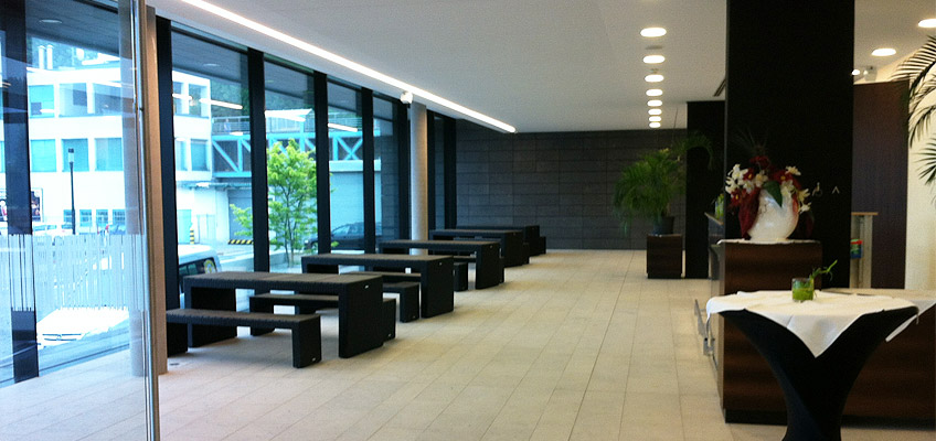 Foyer in der Stadthalle Sigmaringen auf www.stadthalle-sigmaringen.de